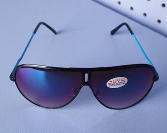Vintage 80s BLUE Aviator Sunglasses