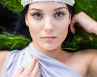 Wedding Crown Swarovski Crown Bridal Headband Statement Headband Bridal Headpiece Wedding Headpiece Crystal Crown Bridal Tiara