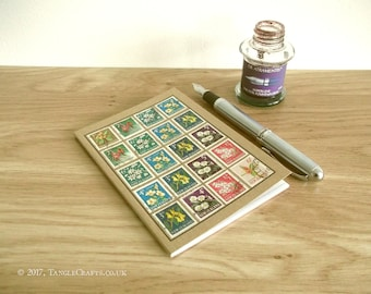 New Zealand Flower Stamps Notebook | Upcycled Vintage Stamp Journal