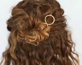 MINI Hair pin. Brass Hair Stick. Modern Hair Pin. Gold Hair Stick. Hair Accessory. Golden Brass Hair stick. Small Hair Pin. Solid Brass.