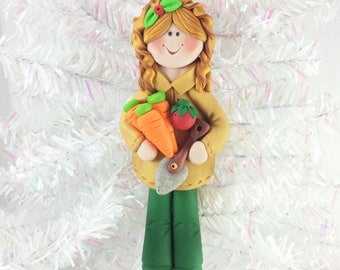 Gardener Christmas Ornament - Gift for Gardener - Gardening Ornament - Clay Christmas Ornament - Personalized Christmas Ornament - 61316