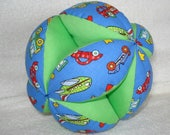 Planes, Trains and Automobiles Easy-Catch Baby/Toddler Clutch Ball - Baby Shower Gift