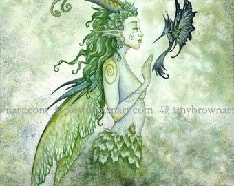 5x7 Fae Encounter fairy PRINT by Amy Brown