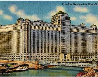 Vintage Chicago Postcard - The Merchandise Mart (Unused)