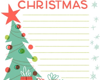 What I Want for Christmas List Kids Santa Instant Download