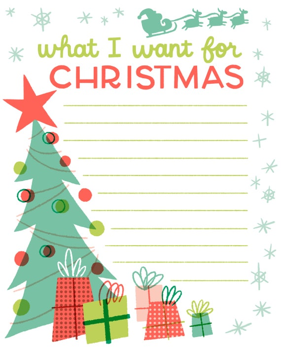 Christmas List, Instant Download