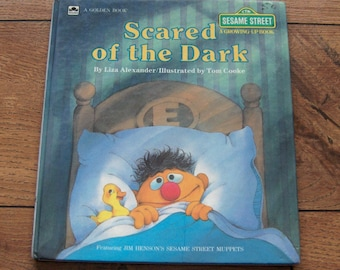 vintage 1986 golden book Sesame Street growing up book Scared of the Dark guc Ernie and Bert