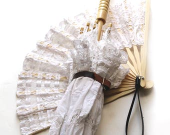 Steampunk Lace Fan and Parasol