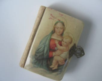Vintage French Catholic Missal Celluloid Cover Prayerbook 1920