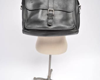 COACH vintage leather MESSENGER BAG tote laptop carry all briefcase