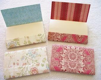 "12 - 4"" x 4.5"" Matchbook Notepads - Victorian Flower Garden  15 sheets-   extra large 4 x 4.5 inch size-"