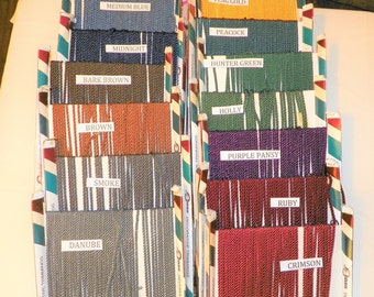 5 Yards of Corded Twisted Upholstery Trim 3/16 Inch Wide, Your Choice of Color, New Old Stock Binding Trim