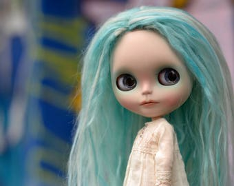 Elsa, a customized Blythe doll by Rachel K