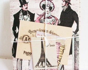 2 Handmade Books. French Gift Tags. Notebooks. Journals. Victorian Style. French Style. Victorian French Tags. Handmade Book. Victorian.