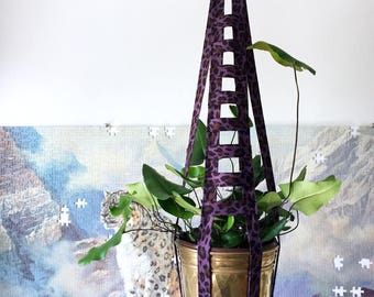Purple Leopard Ladder – Plant Hanger – 24 inches tall - works with 4-6 inch pot