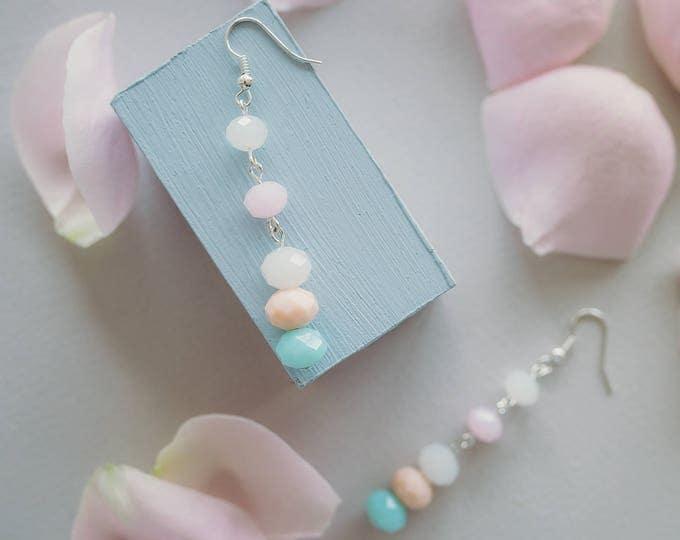 Pastel Delight dangle earrings.