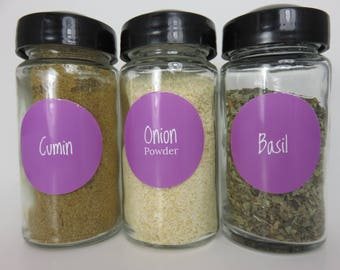 Plain Lavender Spice Jar Labels 80 in Set!