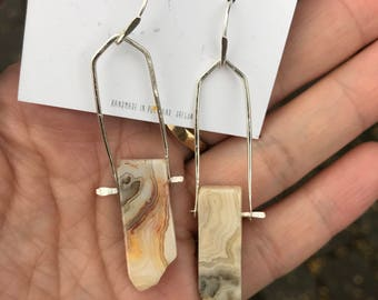 Bumblebee Jasper Cathedral Arc Earrings