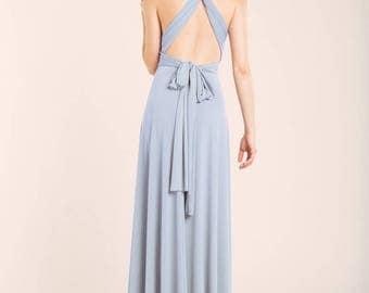Light blue dress, serenity blue bridesmaid dress, light blue long dress, long baby blue infinity dress, long serenity bridesmaid dresses