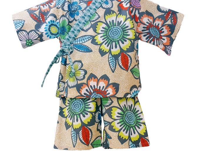 Kids Kimono Jinbei - ACAPULCO - Japanese casual wear girls baby toddler jinbei