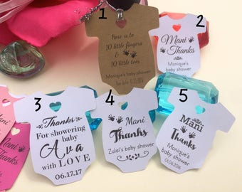 Mani Thanks Tags Baby Shower tags thank You Gifts Baby Shower Favor tags Girl Spa Party Favors Nail Polish Tag Favor Shower Thank You