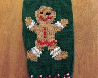 Ginger Bread Man Stocking, Christmas Stocking, Personalized Stocking, Gingerbread Man Stocking