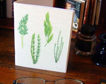 Pocket Notebook with Herbs - Parsley Sage Rosemary Thyme Basil Chives Mint Dill