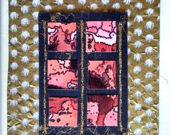 gold window card