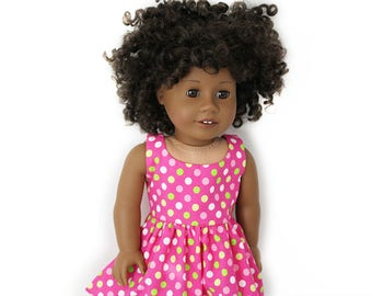 "Polka Dot Perfection Sundress for American Girl and other 18"" Dolls"