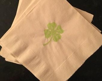 Bright Green Shamrock Paper Cocktail/ Lunch/ Dinner Napkins