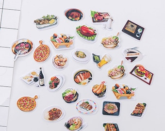29 PCS, Food stickers, Chinese takeout, Chinese Food, Junk Food stickers, Burger stickers, Sushi stickers, Japanese food, Pizza sticker, FK4