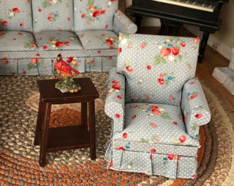 Miniature Fern Stand, Wood Side Table, Mini Wood Table, Dollhouse Miniature, 1:12 Scale, Dollhouse Furniture, Decor, Crafts