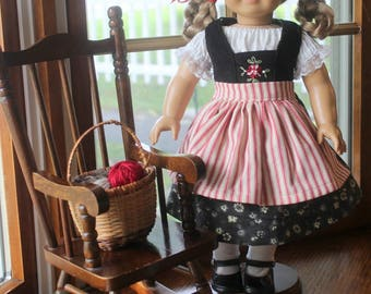 Kirsten's Hand Embroidered Dirndl - Jumper, Peasant Blouse and Apron -Ready to Ship