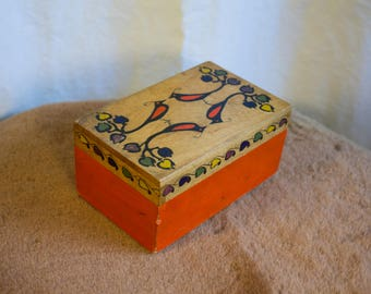 Small Wooden Painted Box