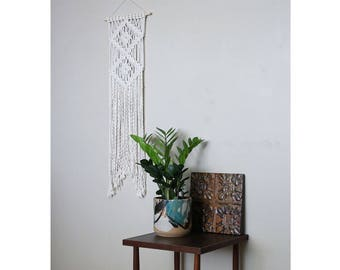 Macrame Wall Hanging with Double Diamond Detail