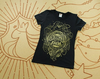 Wonder Woman Shirt // Stronger Than You Know Shirt // Hand Screen Printed // Classic Black and Gold