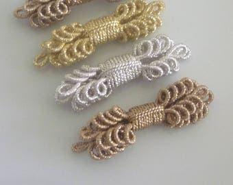 Moroccan metallic embellishments, set of 4