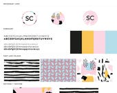 Pre-Made Branding Kit /  Branding Package / Modern Logo / Branding /  Business Card  / Bright + Abstract / Unique Pattern & Type