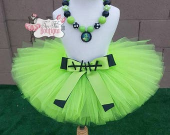BOOGIE MAN- Green and Black baby/child Tutu with hairbow:  Newborn-5T