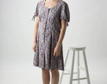 Floral Summer Dress / Delicate Midi Dress / Rose Spring Dress