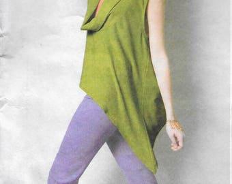 McCall's 6607  Divine Boho Tops & Tunic Nancy Zieman Cowl Neck Top Tunic  Size 18W-24W UNCUT