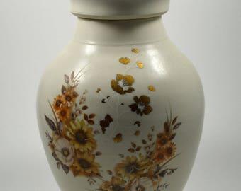 Porcelain Jar/ Large Porcelain Jar/ Lidded Jar with Floral Pattern/ Ceramic Jar with Lid/ Handmade Urn/ Porcelain Urn/ Memorial Urn