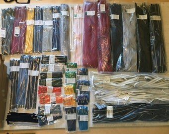 Wholesale Assorted Zippers - 1,100 IDEAL and YKK Zippers - All Colors and Lengths