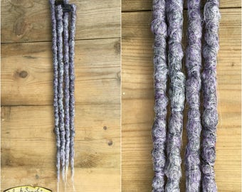 Pewter Clip in Crochet Synthetic dreads