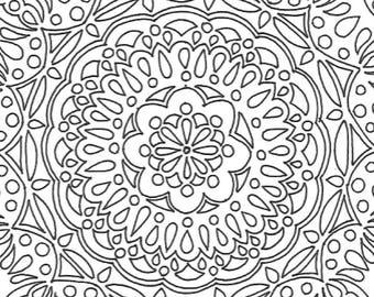 Big Mandala Printable Adult Coloring Page