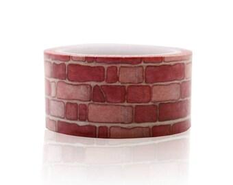 Red Brick Washi Tape Craft Supplies Planner Stickers Erin Condren Scrapbooking Decorative Tape Love My Tapes