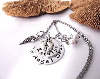 Baby Memorial Jewelry, Baby Memorial Necklace, My Angel Baby, Baby Bereavement, Loss of Baby, Baby Loss, Miscarriage, Infant Loss