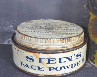 Vintage Stein's Face Powder Makeup Tin Stage & Boudoir M. Stein Cosmetic Company