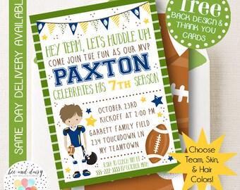Football Invitation, Football Birthday Invitation, Football MVP Birthday Party, Football Party Invitation, Boys Sports Birthday BeeAndDaisy
