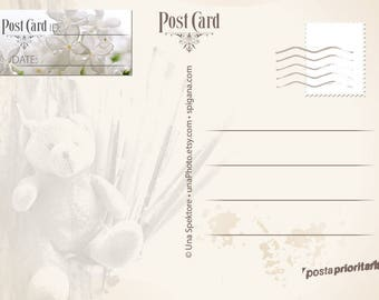White lilac Postcard ID and DATE stickers, Postcard stickers for Postcrossing. Set of 20